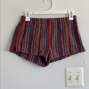 Colorful Striped Shorts